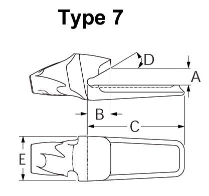 Esco Super V Zahnhalter V 33
